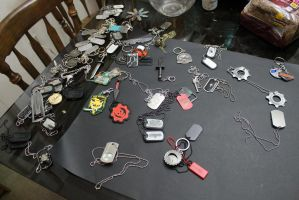 Dog Tags and Keychains (2 of 2) by sabresteen