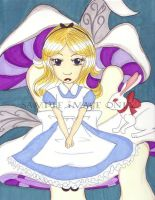Alice and the white Rabbit by Chibiusa14