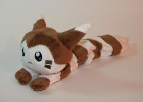 Furret beanie by Yukamina-Plushies