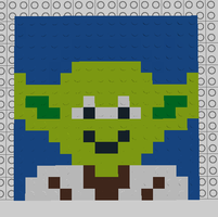 LEGO Star Wars Mosaics - Yoda by WorldwideImage