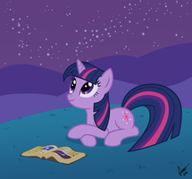 Twilight studying outside by Snetri