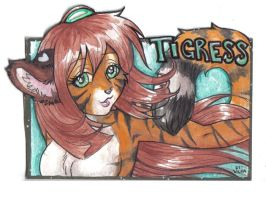Watercolor Badges 3: Tigress by Blattaphile