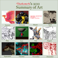 2011 Art Summary MEME by Deathcomes4u