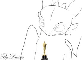 Toothless Take The Oscar by KallusPony