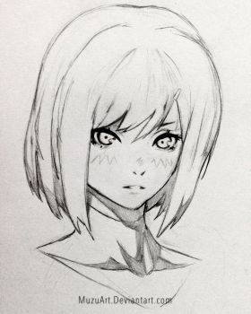 OC Face sketch! by MuzuArt