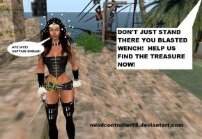Wonder Woman The MC'ed Pirate by The-Mind-Controller