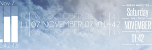 The Patrick Muff Clock Collection for Rainmeter by mrcoaster
