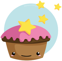 simple Star-Cupcake by Metterschlingel