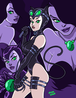 AME COMI CATWOMAN by AnyaUribe
