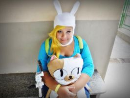 Fionna and Cake by debichankawaii