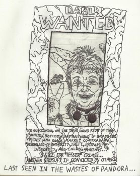 Ravic's Dahl Wanted Poster by RavendeDrieu
