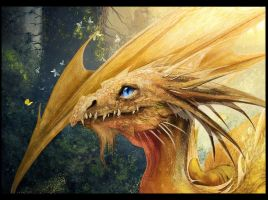 Dragon (fragment) by irish-blackberry