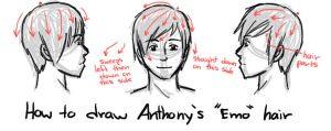 How to Draw Anthony's 'Emo' Hair by GothicShoujo