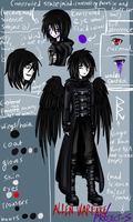 Allen's revamp(ire)'d and updated ref sheet by WhiteNoiseGhost