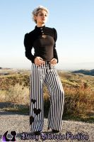 Striped Heart Pants by DaisyViktoria