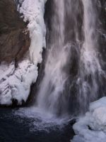 Winter Waterfall 1 by Just-A-Little-Knotty