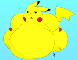 Fatty Pikachu Posing by Gnight