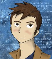 David Tennant Doctor Portrait by InvaderJes11
