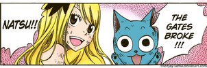 Lucy and Happy by theejay-sama