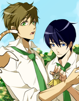 Free!: CAT WILL YOU JOIN THE SWIM CLUB by tofumi