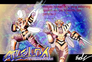 Bima Satria Garuda X : The bee monster ~ Azellot by neiger