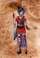 ::Steampunk Geisha:: by PooLinG-WaTeRs