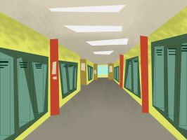 Total Drama School Background by hielorei