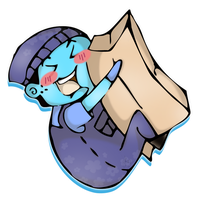 Box Ghost Chibi by 88rev88