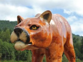 Carved cat by finhead4ever