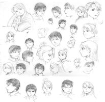roy and riza character studies by astridv