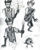 Don't Starve Sketchdump by GlassCatfish