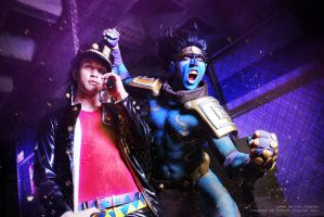 Jotaro, Star Platinum Cosplay at Anime Expo 2014 by WJSCosplay