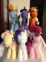 My Little Pony Main 6 Ponies by Aleeart7