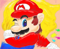Super Mario colored by keke74100