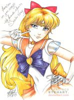 COPIC sketch 20 Sailor Venus AUTOGRAPHED by FranciscoETCHART