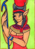 Hathor ATC by anne-t-cats