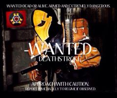 Deathstroke Injustice Wanted Poster by Cadmus130