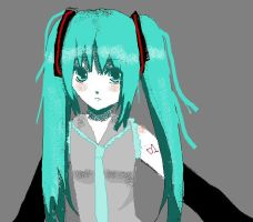 Miku in Mspaint by XNessNessX