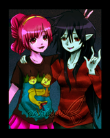 AT: Bubblegum and Marceline by aeriuu-kun