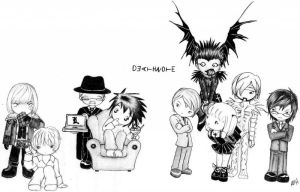 Death Note Chibi by x-ama