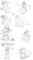 Sketch Dump - Dragons by Dreamnorn