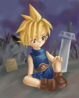 Young Cloud Strife by KeeLe