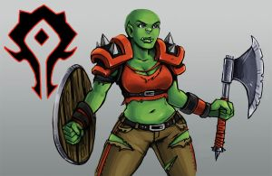 Orc Lady Practice by ISolitude