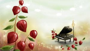 piano love leaf by devils666