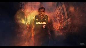 LeBron James wallpaper I DESTRUCTION by RafaelVicenteDesigns