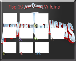 top 10 Power Rangers villains meme BLANK by DaJoestanator