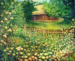 old cottage in museum by Jolik