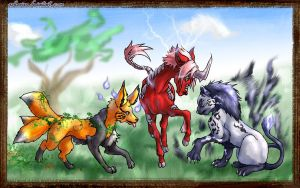 T7 - mystical beasts by askerian