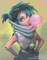 Bubble Girl Painting Test 01-02-14 by KelleeArt