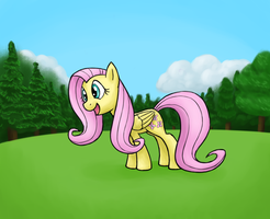 Enthusiatic Fluttershy by Bill-the-Pony